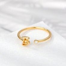 Модные a z кольца с буквенным принтом для женщин кольцо из нержавеющей