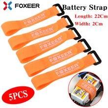 Foxeer 5 pièces forte batterie Lipo RC attache câble attache sangle 22*2cm coloré pour RC FPV hélicoptère quadrirotor modèle cravate