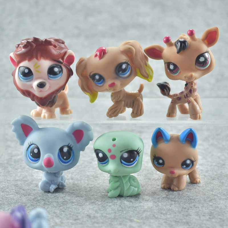 24 pçs/set Mini Pequeno Animal Dolls Rare Littlest Pet Shop Figuras de Ação Tigre Gato Cão Dachshund Collie Brinquedo Gato Patrulha Canina