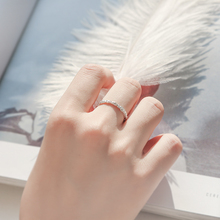 Simple Style Silver Color Glint Gleam Thin Little Finger Ring For Women Girl children Gift Fashion Jewelry Hot Sale