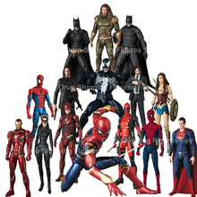 Mafex EVA Spiderman Black Panther Venom Superman Wonder Woma