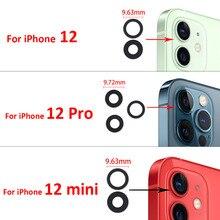 20PCS nuovo copriobiettivo in vetro per fotocamera posteriore posteriore per Iphone 12 12 Pro 12 Pro Max 12 Mini con adesivo adesivo