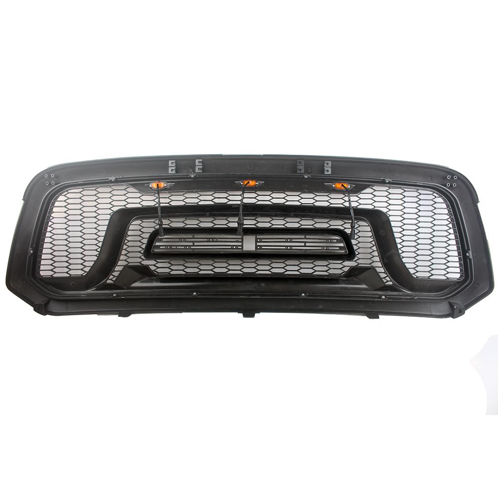 13-18 Ram 2500 3500 Raptor Style Grille Charcoal Gray LED Lighting Mesh