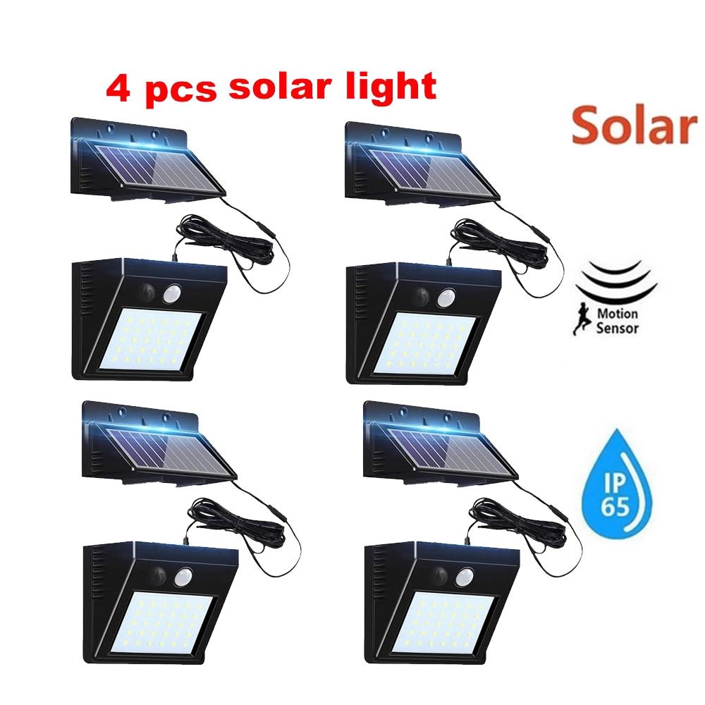 2/4pcs 100/56/30 LED Solar Light Outdoor PIR Motion Sensor Wall Lamp Solar Garden Lights Waterproof SpotlightStreet Yard Path Li