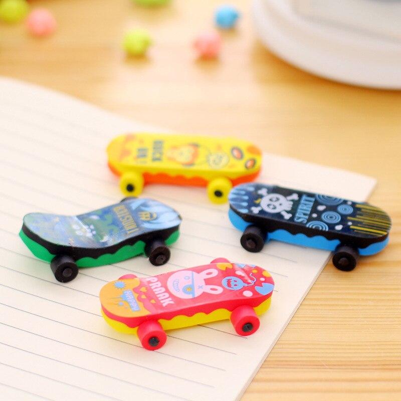 1pc Erasers Skateboard Modelling Pencil Eraser Students Stationery School Supplies For Children Kids Gift Eraser