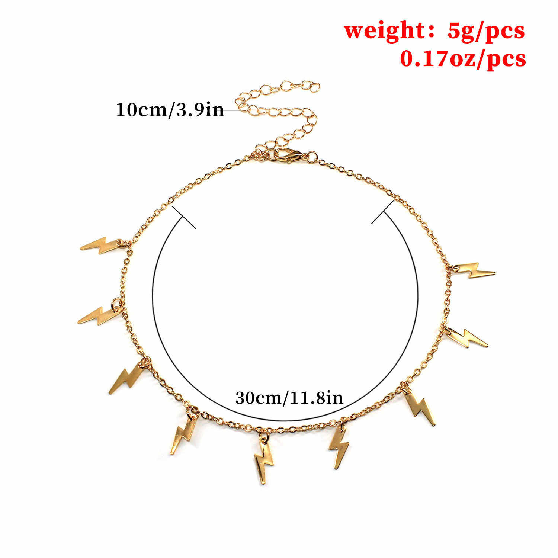 Nueva llegada de JCYMONG COLLAR COLGANTE de iluminación para mujer Cadena de clavícula de enlace de Color dorado y plateado 2020 collar de Gargantilla corta de moda
