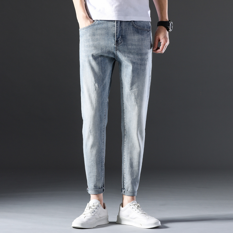 KSTUN Famous Brand Jeans Men White Blue Stretch Relaxed Tapered Pants Leisure Full Length Trousers Good Quality Jeans Male Homme 11