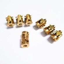 Universal Joint Gimbal Coupling 3mmx3mm-Diameter Mini Brass Model 13mm 7mm-Length