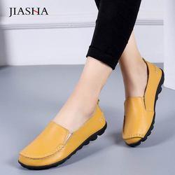 Sapatas das mulheres suaves sapatos de couro genuíno mulher tenis feminino não-deslizamento de ballet flats sapatilhas mulheres sapatos casuais senhoras mais tamanho