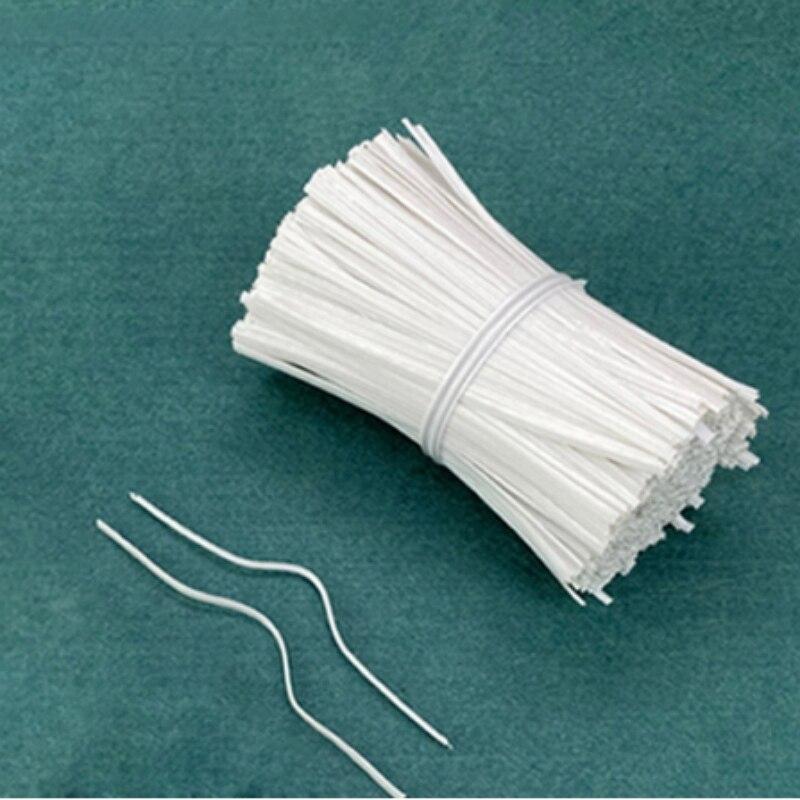 1000 шт. PE пластиковый стержень для носа для DIY Маски одножильные зажимы для мостика носа материал для изготовления ювелирных изделий Аксессуары белый 100x3mm