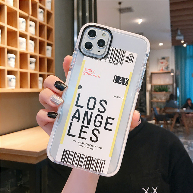 Air Tickets Printed iPhone Back Case Cover
