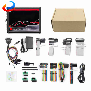 OBD2 V2 V5.017 EU Red Master Online V7.020 Full BDM Frame ECU Chip Tuning Tool OBD II V2.53 V2.25 ECU Programmer stainless steel led bdm frame ecu chip tuning bracket with adapter set 4 probe pens