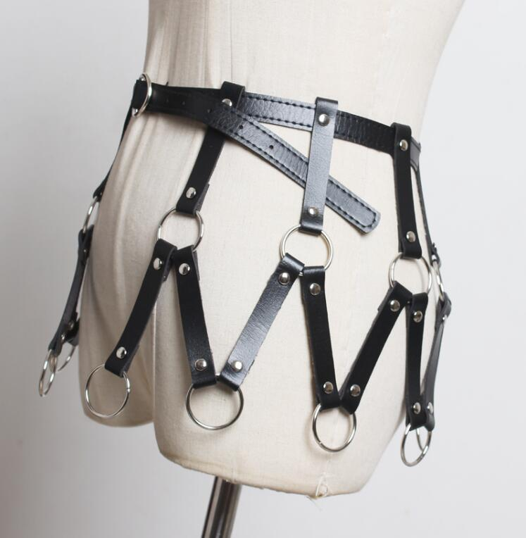 Women's Runway Fashion Metal Circle Pu Leather Cummerbunds Female Dress Corsets Waistband Belts Decoration Wide Belt R2403