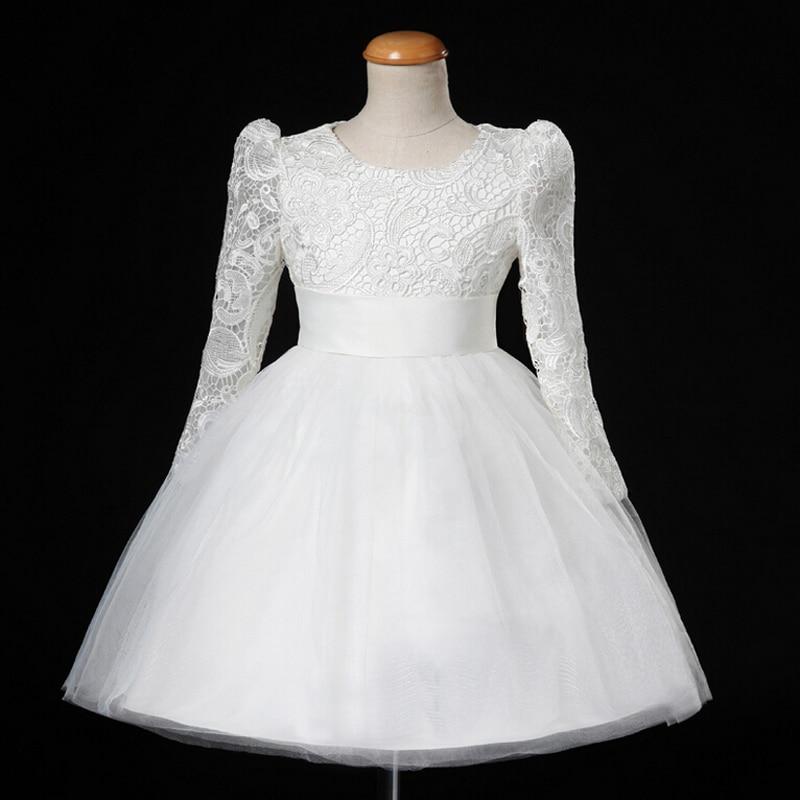 New Flower Girl Dresses with Long Sleeve Communion Ball Party Pageant Dress for Wedding Little Girl Kids/Children Princess Dress