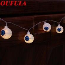 Oufula привидение глаз Хэллоуин светильник гирлянда один украшение