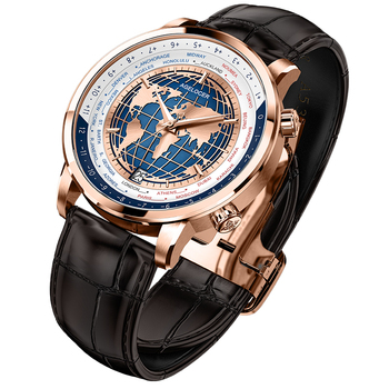 AGELOCER Men Watch  Luxury Brand Worldtime Automatic Mechanical Men's Wirstwatches Sapphire Leather World Time relogio