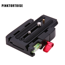 PINKTORTOISE Quick Release for Manfrotto Aluminum Camera Tripod Plate Clamp for Manfrotto 577 501 701HDV 500AH цена