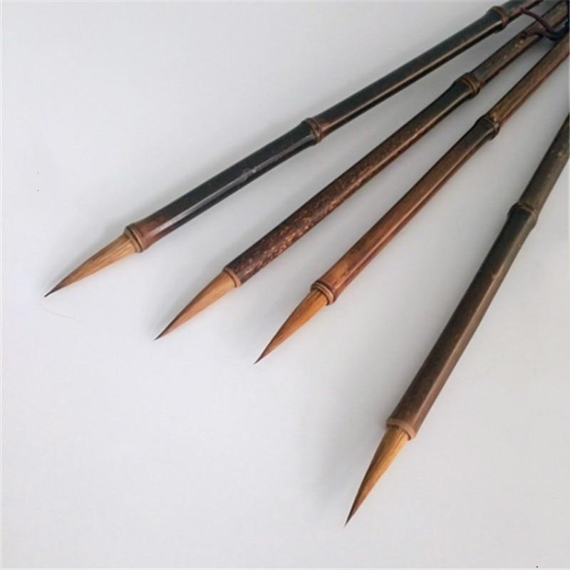 weasel cabelo caligrafia escova 2 pcs chines linha fina pintura pinceis de escrita pintura chinesa caligrafia