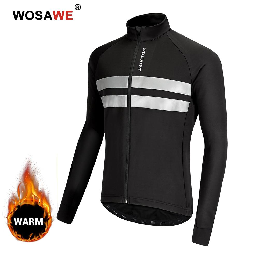 Men/'s Cycling Jersey Long Sleeve Fleece Thermal Jacket Warm Coat Windproof Tops