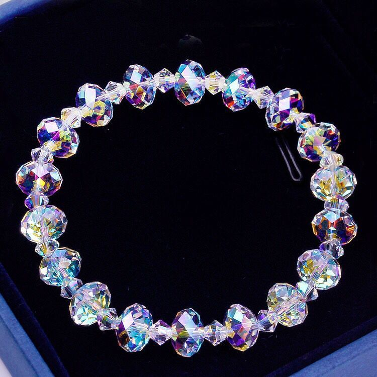 Luxury Exquisite Aurora Square Geometric Polygon Bead Crystals Bracelet Women Females Tennis Bracelet Charm Jewelry Accessory 5