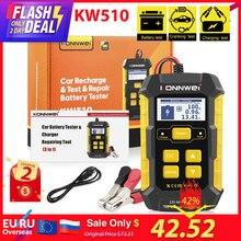 KONNWEI KW510 tam otomatik 12V araba pil test cihazı darbe onarım 5A pil şarj aletleri ıslak kuru AGM jel kurşun asit araba tamir aracı