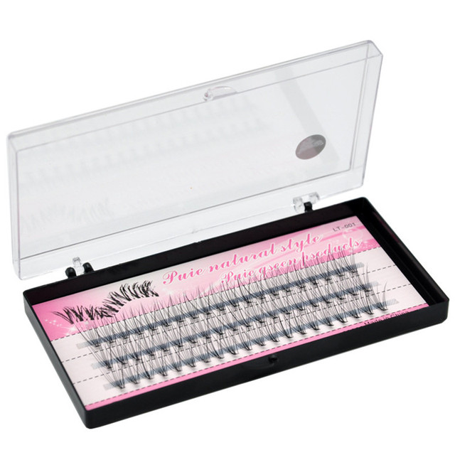 Natural False Eyelashes 1 Box 60 Clusters Eyelash Extension, Professional Makeup Personal Eyelash Free Shipping 2