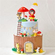Ptak domek grzybowy małe czerwone kaptur dziewczyna Topper na tort urodzinowy dostawy na impreza dla dzieci dekoracja pieczenia urocze prezenty tanie tanio NoEnName_Null CN (pochodzenie) YC-A004_ other Rocznica Party Birthday party Dzień dziecka Ślub i Zaręczyny Walentynki