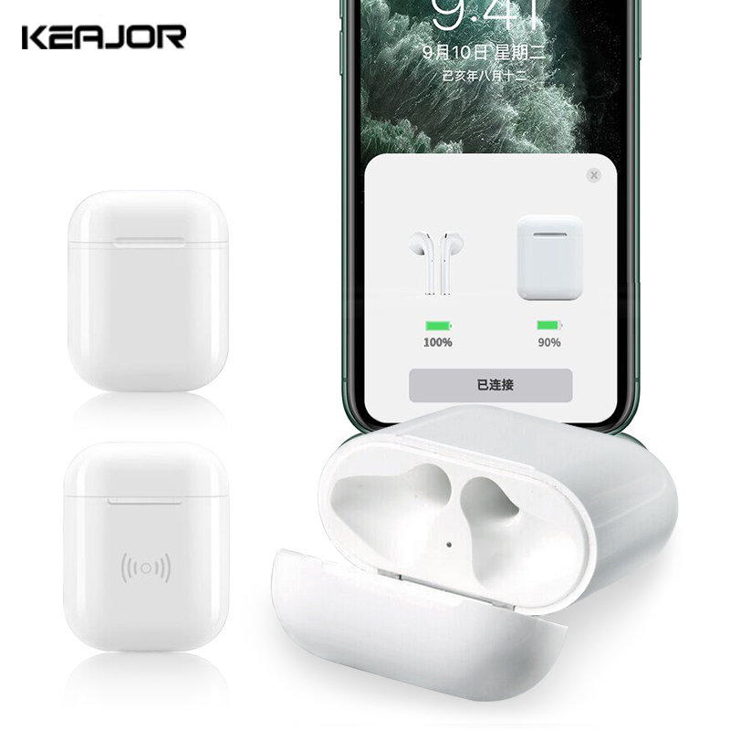 Qi Wireless Charger Box For <font><b>Airpods</b></font> 2 1 Case Bluetooth Earphone Pairing <font><b>Pop</b></font> <font><b>Up</b></font> Windows Wireless Charger Case For Air pods 450Mah image