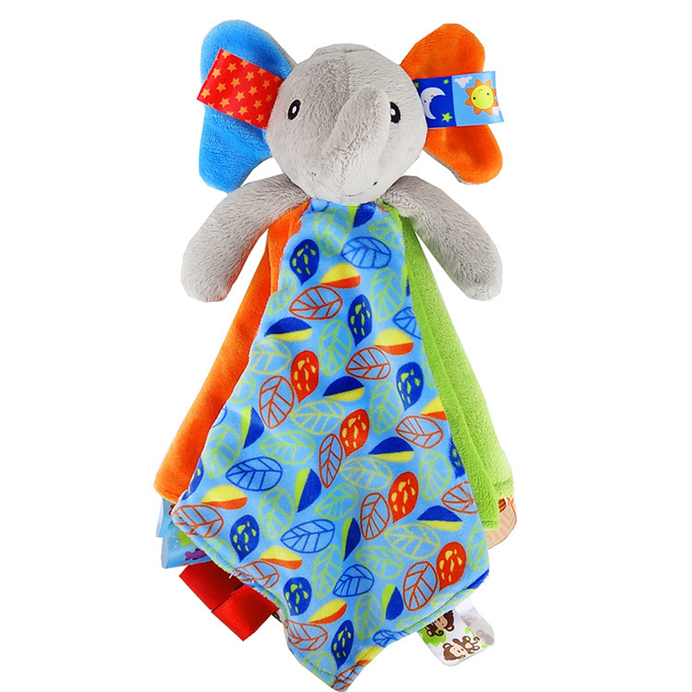 Eco Friendly Easy Install Non Toxic Home Baby Rattle Sleep Bed Appease Towel Early Education Anti Fade Plush Toy Hanging Cute
