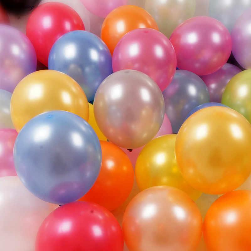 10 Inch Ngọc Trai Cao Su Bóng 21 Màu Bơm Hơi Trang Trí Đám Cưới Không Bóng Bữa Tiệc Sinh Nhật Vui Vẻ Cung Cấp Bóng @ 11