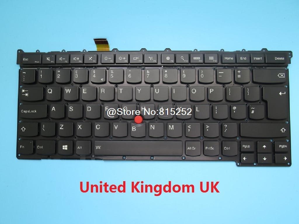 Keyboard For Lenovo For Thinkpad X1 Carbon 3rd 2015 English US United Kingdom UK Japanese France FR Spain SP Germany GR Backlit