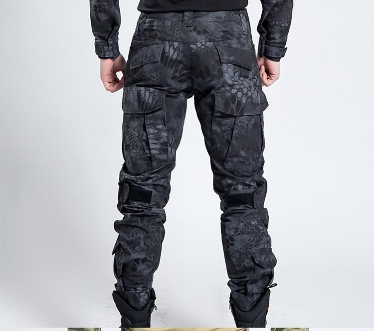Pantalon tactique militaire hommes Camouflage Cargo Airsoft Paintball pantalon marée armée spécial soldat chasseur travail sur le terrain pantalon de Combat - 2