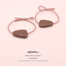 2 Pieces 5 Candy Colors High Elasticity Elastic Rubber Band For Women Girl Hair Band Children Hair Accessories Headwear