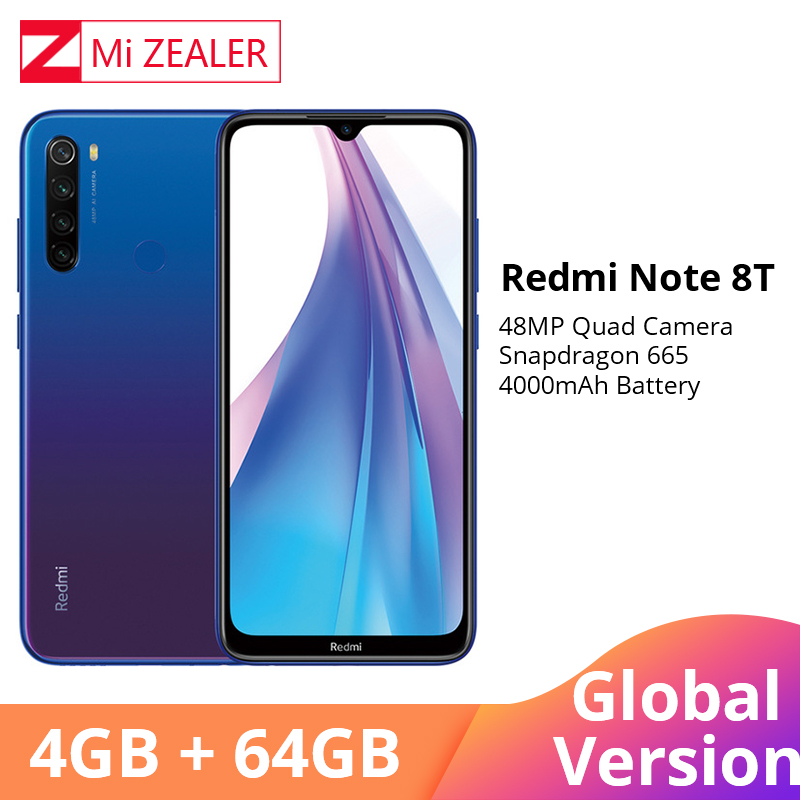 Global Version Xiaomi Redmi Note 8 Note 8T NFC 4GB RAM 64GB ROM Octa Core Smartphone Snapdragon 665 48MP 6.3