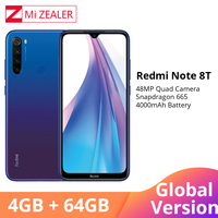 Global Version Xiaomi Redmi Note 8 Note 8T NFC 4GB RAM 64GB ROM Octa Core Smartphone Snapdragon 665 48MP 6.3 Screen Cellphone