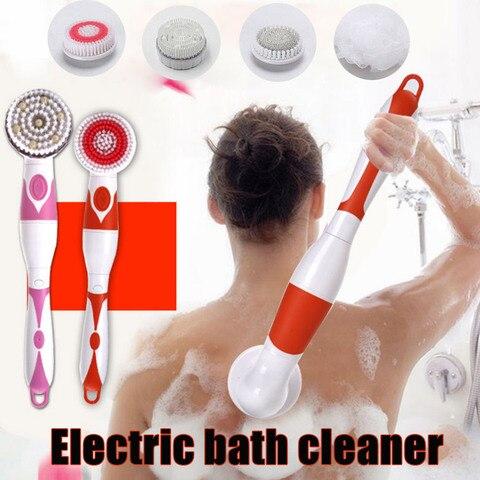 rotacao eletrica massagem escova de chuveiro banho spa limpeza a prova dlagua volta purificador