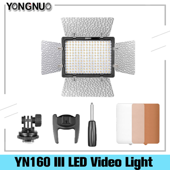 цена на Yongnuo YN-160 III LED Video Light Annular Lamp Photography Lighting for Canon 650D 5D Mark II 6D 7D 60D 600D 550D Dslr Camera