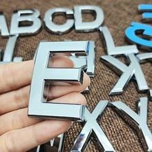 5cm a a z moderno 3d letras adesivo placa de prata número da casa número da porta do hotel dígitos endereço placa etiqueta sinal plástico abs