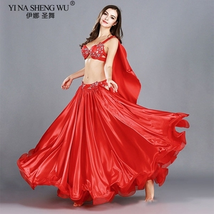 Image 2 - Trajes de danza del vientre profesional para adultos, conjunto de danza Oriental elegante, Top de danza del vientre, sujetador, falda larga, trajes para mujer