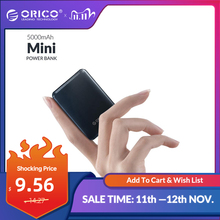 ORICO 5000mAh Mini Power Bank Portable Charging External Battery Slim Powerbank Poverbank 5000 mAh For iphone Xiaomi Smartphone