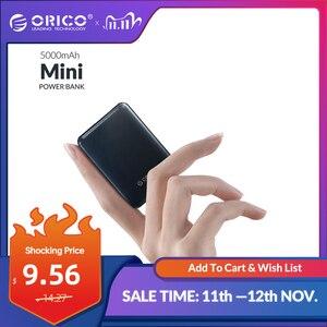Image 1 - ORICO 5000mAh Mini Power Bank Portable Charging External Battery Slim Powerbank Poverbank 5000 mAh For iphone Xiaomi Smartphone
