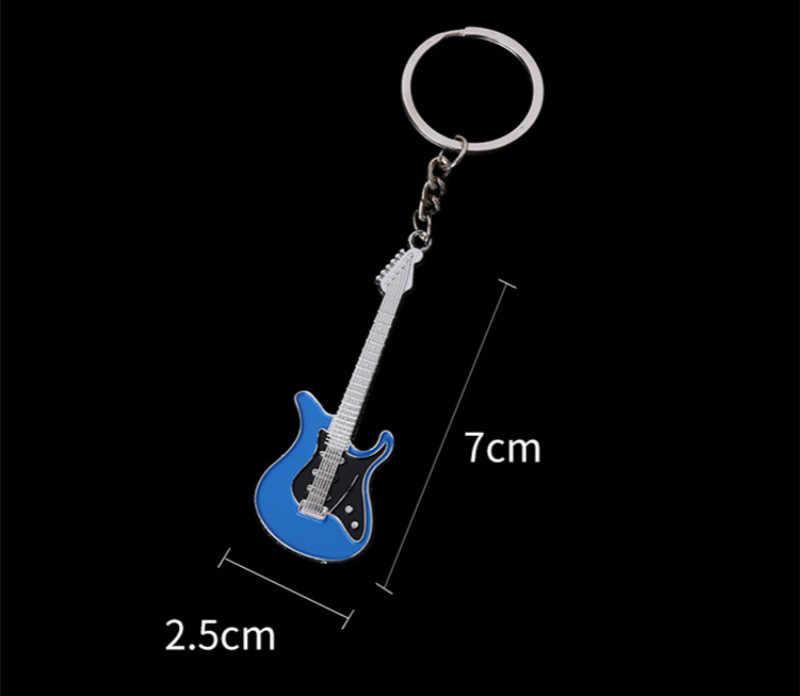 1 piezas nuevo creativo clave cadena de Metal personalidad diseño clásico modelo de guitarra llavero de aleación para el hombre las mujeres regalo clave