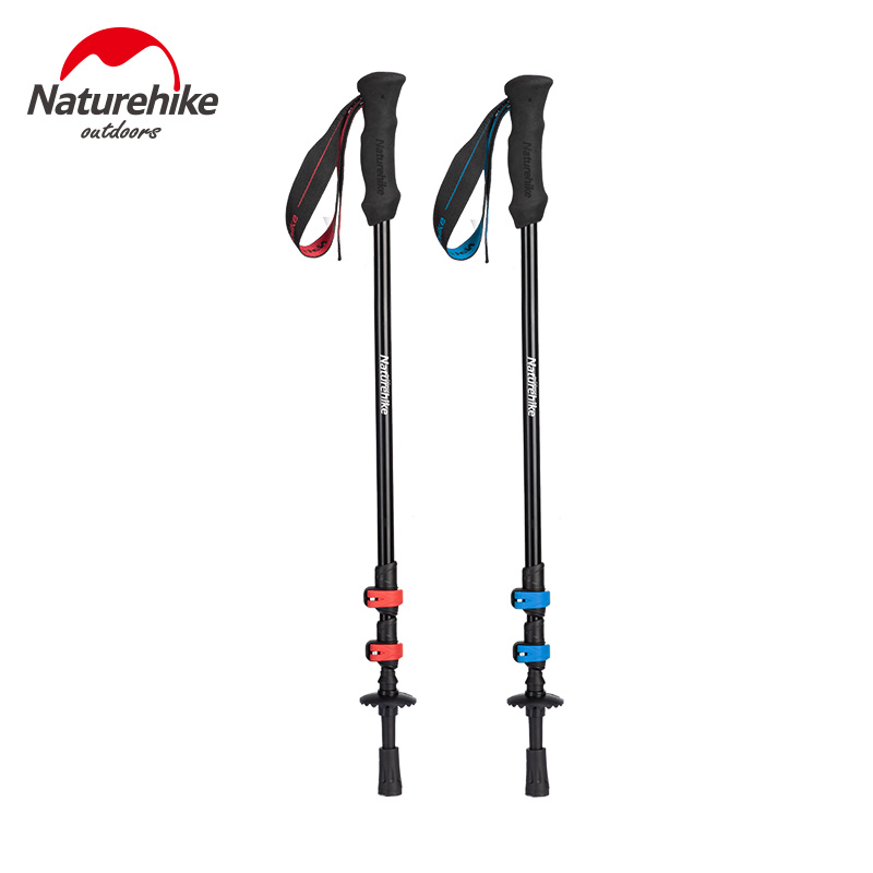 Replacement Hiking Stick Flip Lock Fit for 16mm Walking Pole Black Outdoors