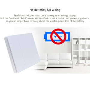 Image 4 - Wireless remote Switch Wiring free wireless remote control switch Self Powered wireless Switch AC Wall panel No battery