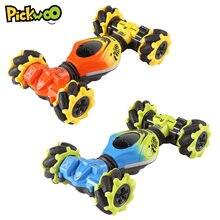 Pickwoo c11 rc dublê carro 4wd mini torção fora de estrada veículo com gesto de música leve sentindo deriva escalada brinquedos para crianças