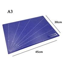 Cutting-Mat Plastic Pvc A3 A4 1pcs 45cm-X-30cm Grid-Line-Tool Rectangular New