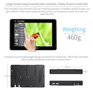 Image 4 - FEELWORLD LUT7S 7 Inch 3G SDI 4KHDMI 2200nits 3D LUT Touch Screen DSLR Camera Field Monitor with Waveform VectorScope Histogram