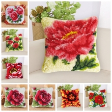 Flower Do It Yourself  Embroidery Knooppakket Latch Hook Kits Pillow Borduurpakket Kussen Package