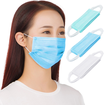 100PCS Non-woven Fabric Disposable Earloop Face Dust Masks for Dental Surgical Nail Salons Construction dust mask