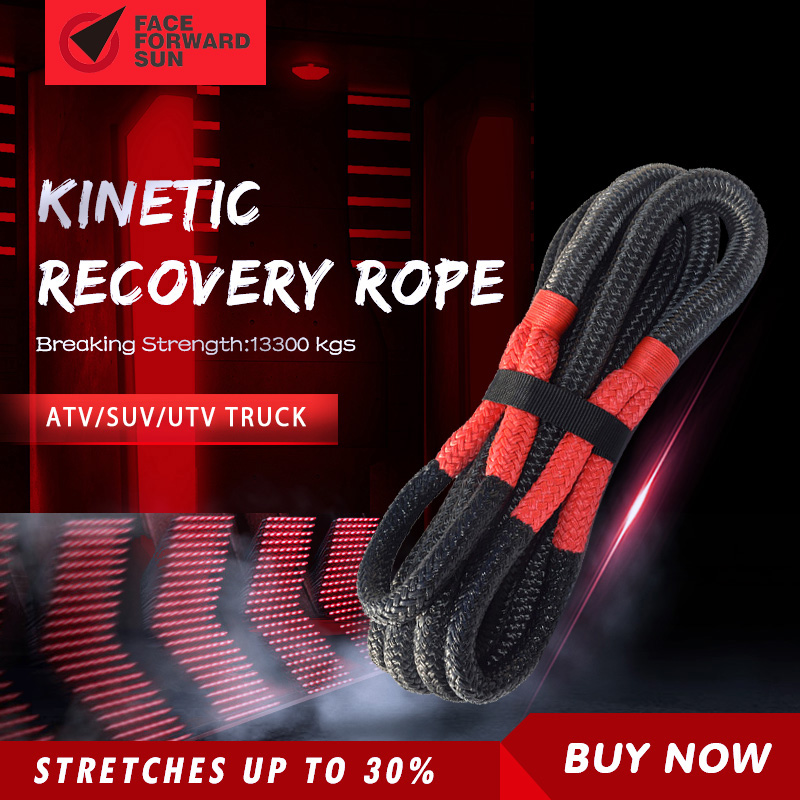 Free Shipping 1inch*30ft Kinetic Rope,Recovery Rope,Double Braied Nylon Energy Rope